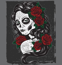day of dead girl vector image