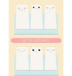 Kittens pocket greeting birthday or shower card vector