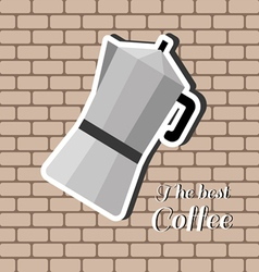 A jug of coffee with the best coffee inscription vector