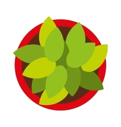 Plant pot isolated icon design vector