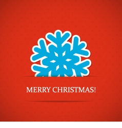 Christmas snowflake background vector image