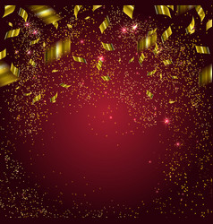abstract background with gold confetti vector image vector image