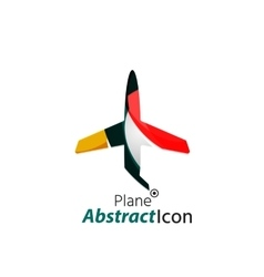 Abstract geometric business corporate emblem - vector