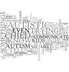 Autistic children and the strain on marriage text vector