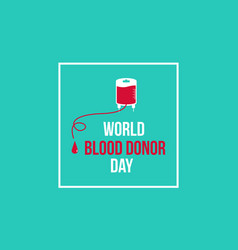 Banner style world blood donor day vector