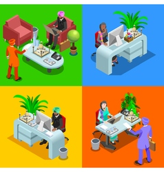 Business indian 01 isometric people vector