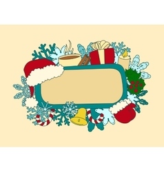 Christmas symbols design element vector