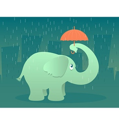 Elephant with Umbrella vector image vector image