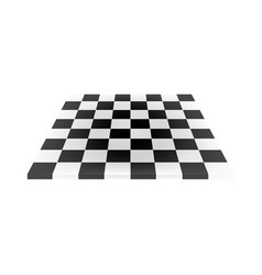 Empty chess board in black and white design vector