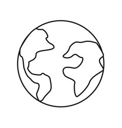 figure earth planet internet connection service vector image