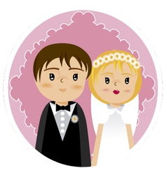 Grooms and wedding 2 vector