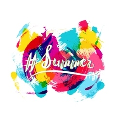 Hashtag summer lettering vector