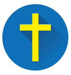 icon cross jesus vector image vector image