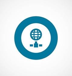 internet bold blue border circle icon vector image vector image