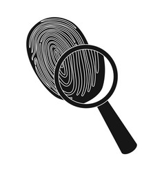 investigation by fingerprint magnifier crime vector image