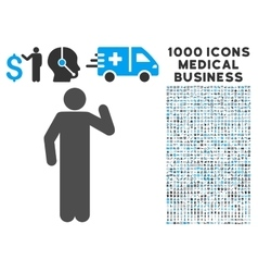 Opinion pose icon with 1000 medical business vector
