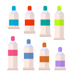 palette of acrylic or gouache aquarelle paints vector image