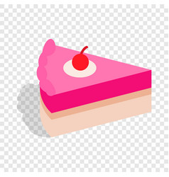 piece of cake isometric icon vector image