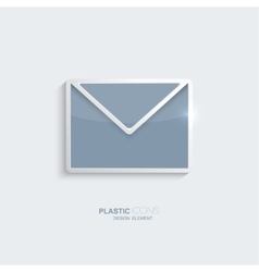 Plastic icon email symbol vector image vector image
