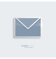 Plastic icon email symbol vector image