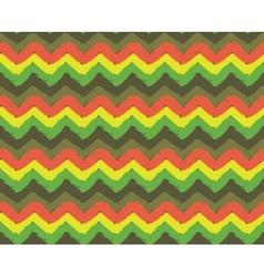 Rasta Zigzag Pattern vector image vector image