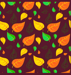 Seamless autumn leaves pattern vector
