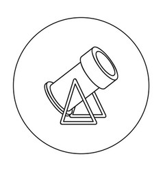 Snow cannon icon in outline style isolated on vector