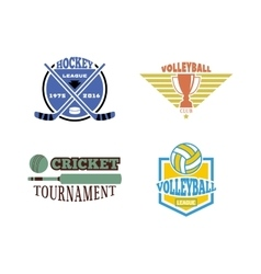 Sport team badge set vector image vector image