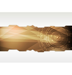 Transparent folder template in high-tech style vector