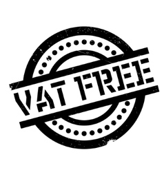 Vat free rubber stamp vector