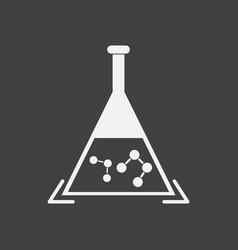 White icon on black backgroundpheromones in vector