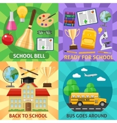 Education flat compositions vector
