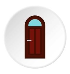 Semicircular door icon flat style vector