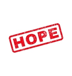 Hope text rubber stamp vector