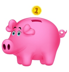 Piggy bank cartoon vector image