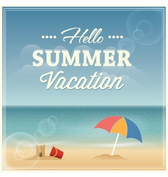 Summer vacation greeting card design vector image
