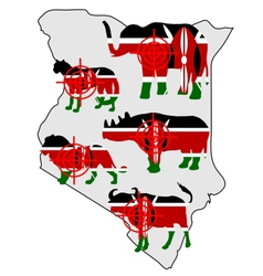 Big five kenya cross lines vector