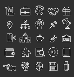 Business element icons vector image