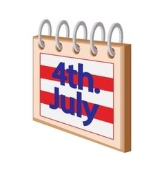 4 july calendarindependence day usa cartoon icon vector