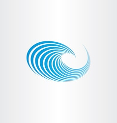 Water wave blue sign vector