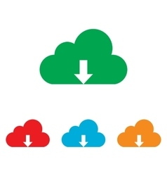 Cloud sign colorfull set vector