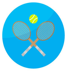 Tennis sport icon vector