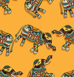 Elephants background vector
