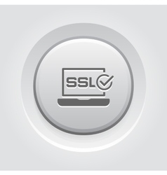 Ssl certified protection icon flat design vector