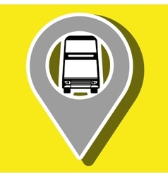 Signal of two floor bus isolated icon design vector