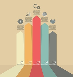 Arrows business marketing infographic vector image vector image