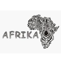 Background with zebra motif vector image vector image