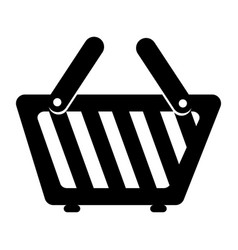 Basket shopping commercial icon vector