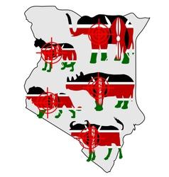 Big five kenya cross lines vector