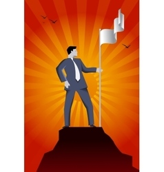 Business reaching success peak vector